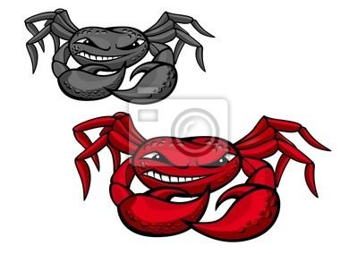 Red böse Krabbe mit Krallen