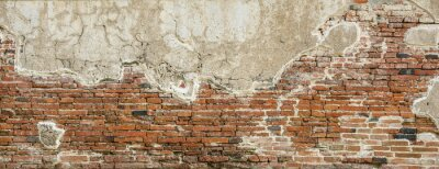 Fototapete Red brick wall texture background,brick wall texture for for interior or exterior design backdrop,vintage tone.