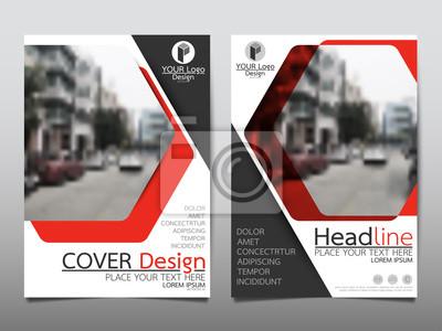 Red flyer cover business broschüre vektor-design, leaflet werbung ...