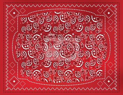 Red Paisley Einstecktuch