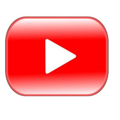 Fototapete red play button isolated on white background