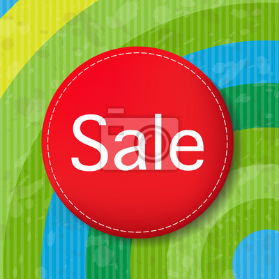 Red Sale Poster Mit Color Line