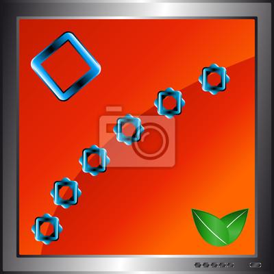 Red Zusammenfassung Hintergrund in Monitor