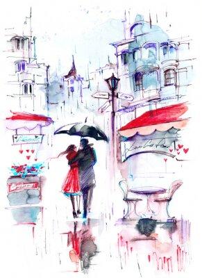 Fototapete regen