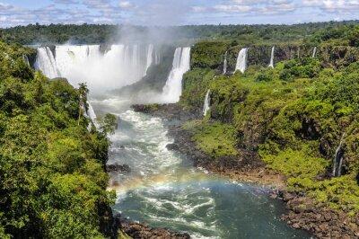 Fototapete Regenbogen am Teufel Hals in Iguazu Falls, Brasilien
