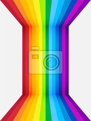 Regenbogen Perspektive Hintergrund