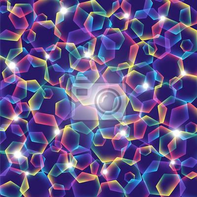 Regenbogen-Polygone mit Lichtern