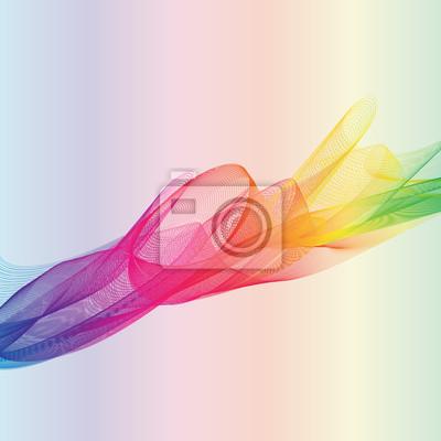 Regenbogen Zusammenfassung auf bunten Hintergrund
