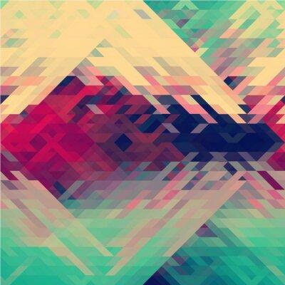 Fototapete Regenbogenfarben dreieckige vektormuster