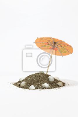 Fototapete Regenschirm für Cocktails