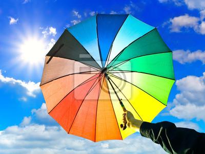 Regenschirm in der Hand
