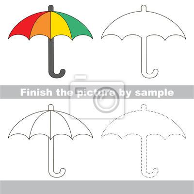Regenschirm. zeichnung arbeitsblatt. fototapete • fototapeten ...