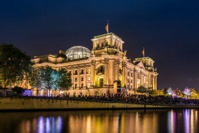Fototapete Reichstag in Berlin am Abend