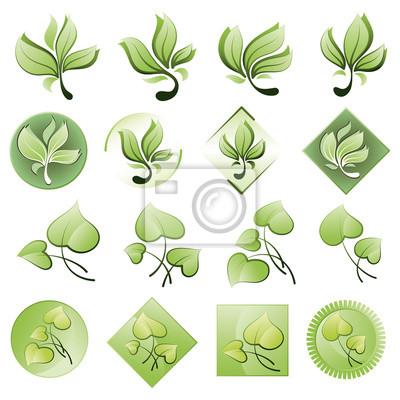 Reihe von Logos aus den Blättern