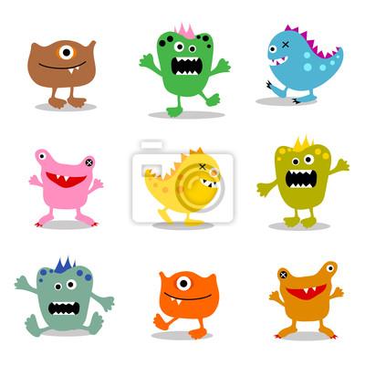 Reihe von niedlichen kleinen Monster 2