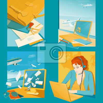 Reisebüro Illustrationen