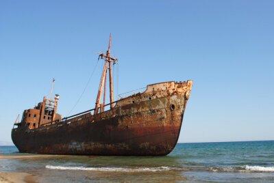 Fototapete Relitto di una nave arenata