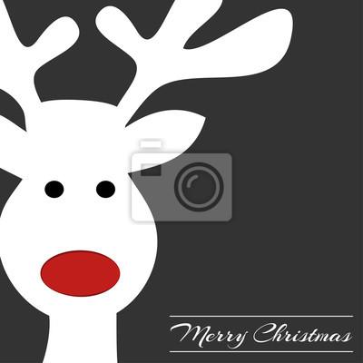 Bilder Rentiere Weihnachten.Fototapete Rentier Frohe Weihnachten