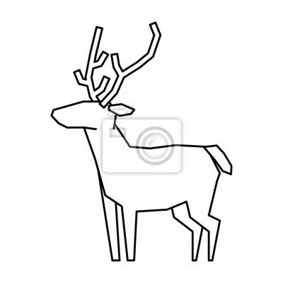 Bilder Rentiere Weihnachten.Fototapete Rentier Weihnachten Tier Symbol Vektor Illustration Grafik Design