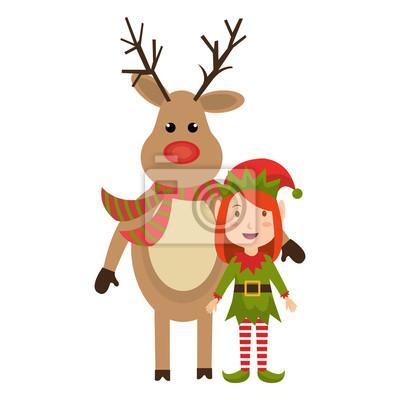 Bilder Rentiere Weihnachten.Fototapete Rentier Weihnachten Zeichen Symbol Vektor Illustration Design