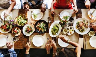 Fototapete Restaurant, das klassisches Lebensstil reserviertes Konzept abkühlt