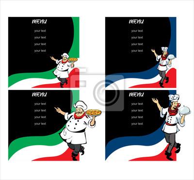 Restaurant oder café-menü fototapete • fototapeten Markenname ...