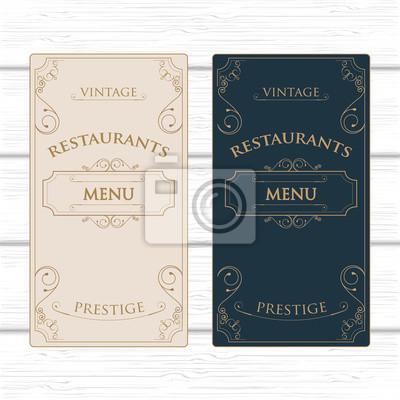 Restaurant oder kaffee-menü-vorlage fototapete • fototapeten Diplom ...