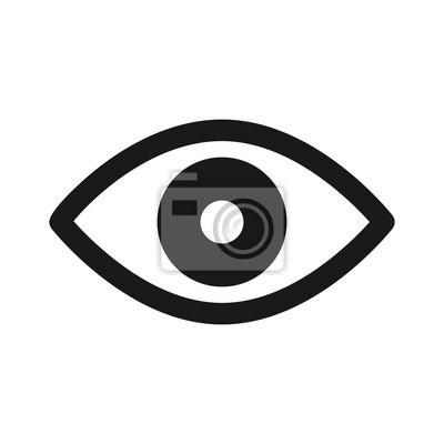 Fototapete Retina scan eye flache Ikone für medizinische Anwendungen und Webseiten