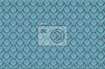 Retro Blaue Tapete Fototapete Fototapeten Samt Vorhang Swirly