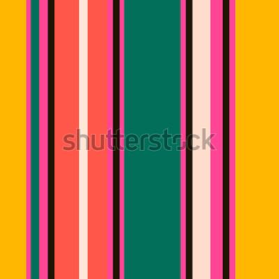 Fototapete Retro- helles buntes nahtloses Streifenmuster. Abstract Vector Hintergrund. Stilvolle Farben.