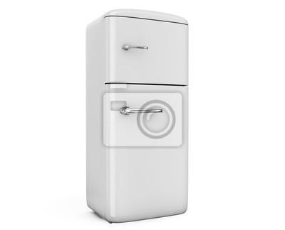 Retro Kühlschrank Günstig Kaufen : Retro kühlschrank isoliert auf weiß bacground d render fototapete