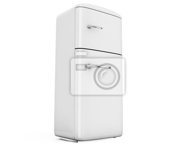 Retro Kühlschrank Klein : Retro kühlschrank isoliert auf weiß bacground d render fototapete