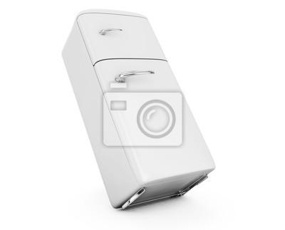 Retro Kühlschrank Vanille : Retro kühlschrank isoliert auf weiß bacground d render fototapete