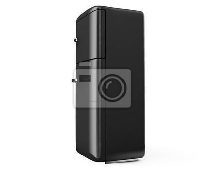 Retro Kühlschrank In Schwarz : Retro kühlschrank isoliert auf weiß bacground d render fototapete