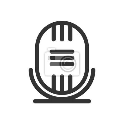 Retro-mikrofon-symbol oder zeichen, vektor-illustration fototapete ...
