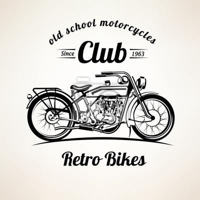 Retro motorrad embleme und etiketten vorlage, jahrgang motorrad ...