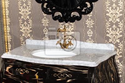 Retro Stil Badezimmer Detailansicht Der Keramischen Bad