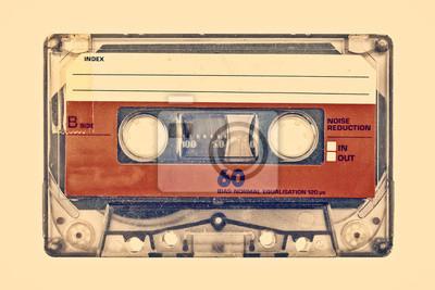 Fototapete Retro Stil Bild eines alten Kompaktkassette
