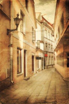 Fototapete Retro-Stil Bild von alten europäischen Straße