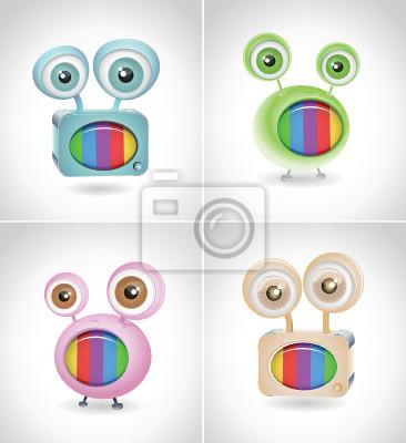 Retro-TV-Cartoon set 02