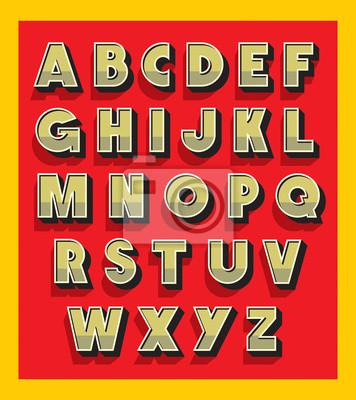 Retro-Vintage-Schriftart. Vector Alphabet