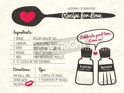 Rezeptkarte kreative hochzeit einladung design mit salz und ...