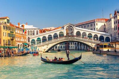Fototapete Rialto-Brücke in Venedig