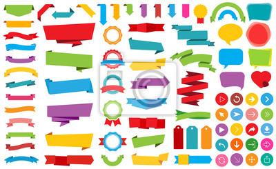 Fototapete Ribbon Aufkleber Aufkleber Banner Vektor