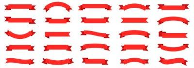 Fototapete Ribbon banner set. Ribbons collection. Red ribbons. Vector ribbon