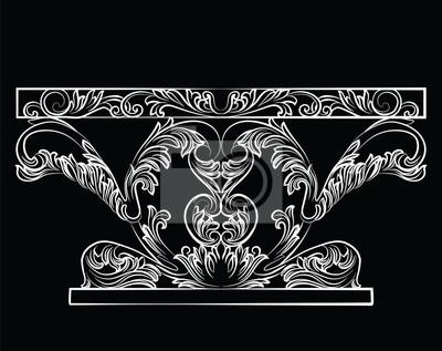Rich barock tisch. französisch luxus reichen geschnitzten ornamente ...