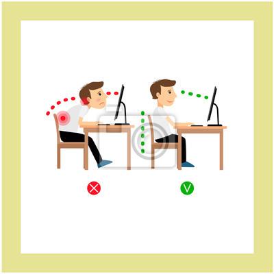 Richtige Sitzhaltung Fototapete Fototapeten Medicals Infografik