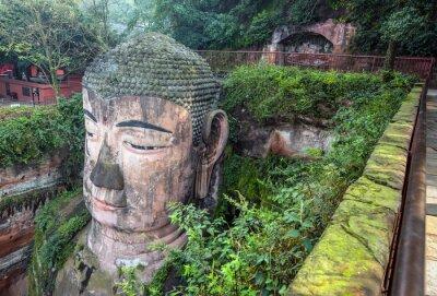 Fototapete Riesen Buddha (Da fo) - Leshan, Sichuan, China