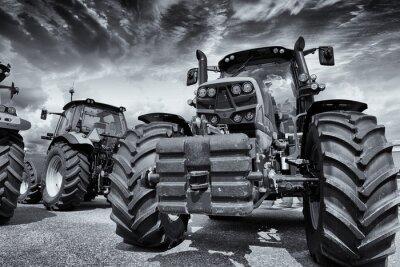 Fototapete Riesen Landwirtschaft Traktoren und Reifen