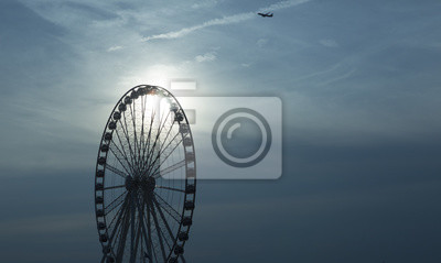 Riesenrad Am Sonnenuntergang